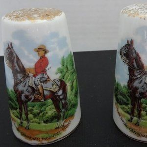VINTAGE RCMP S&P SHAKERS MADE IN JAPAN